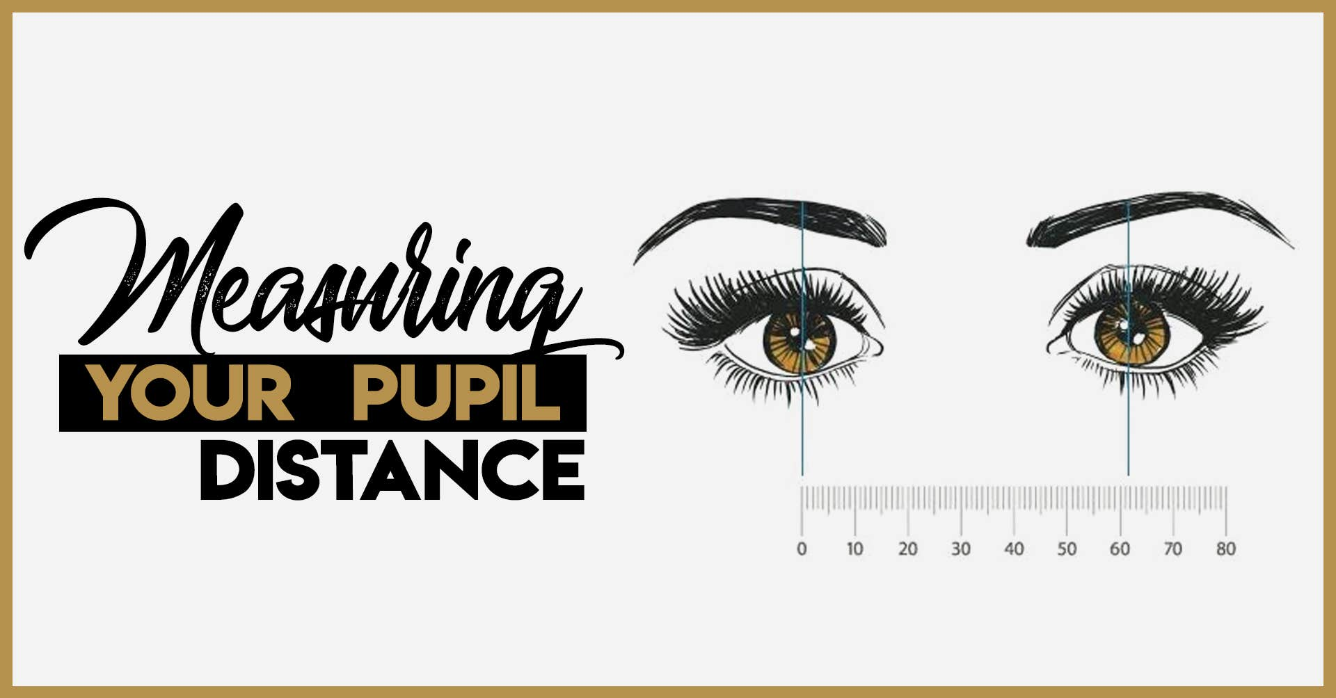 How to measure Pupillary Distance Online by yourself.