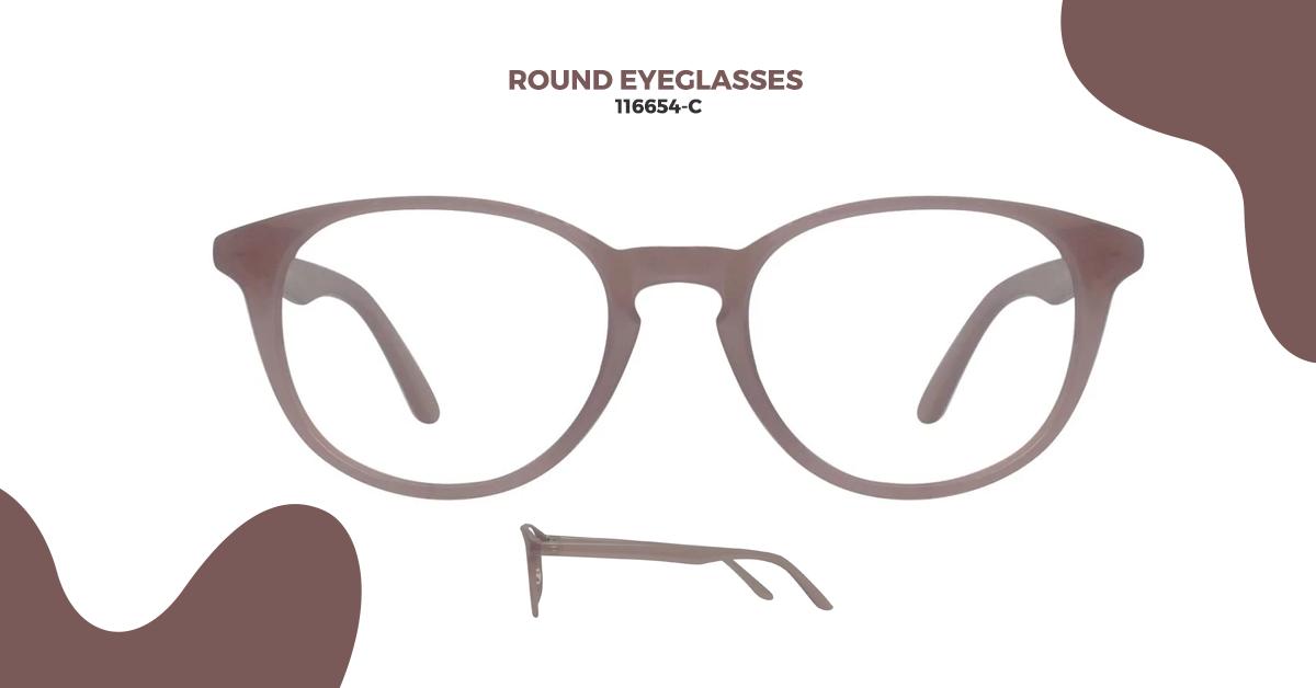 116654-C Round Glasses: