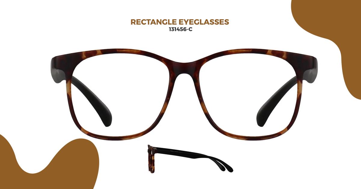 3) 131456-C Rectangle Glasses