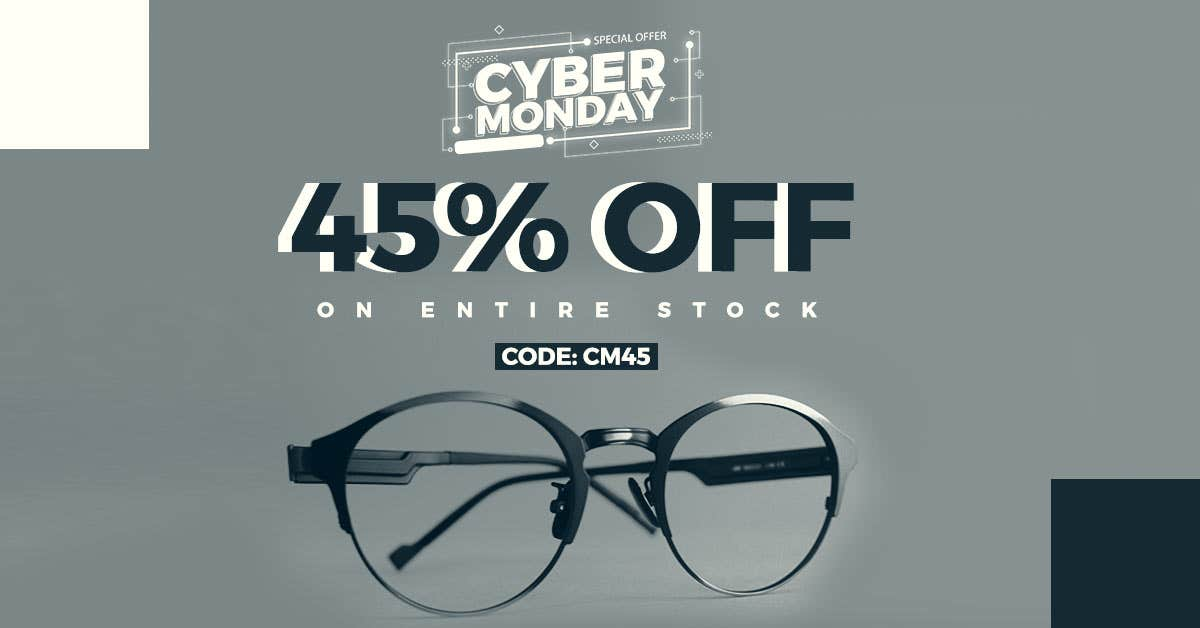 Sale Time: Get Cyber Monday Discounts On Glasses Online