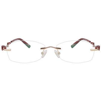Rimless Eyeglasses 123937-c