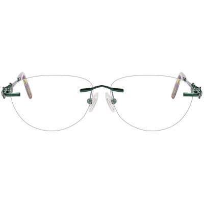 Rimless Cat Eye Eyeglasses 123941-c