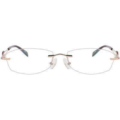 Rimless Eyeglasses 123955-c