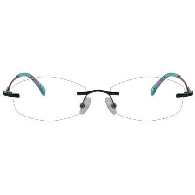 Rimless Eyeglasses 123971-c