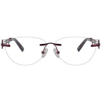Rimless Cat Eye Eyeglasses 123981-c