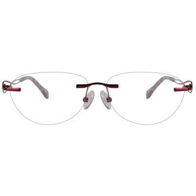 Rimless Cat Eye Eyeglasses 123991-c