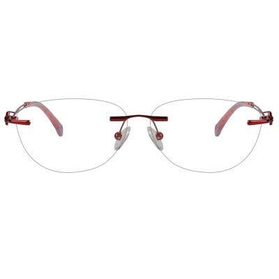 Rimless Cat Eye Eyeglasses 124001-c