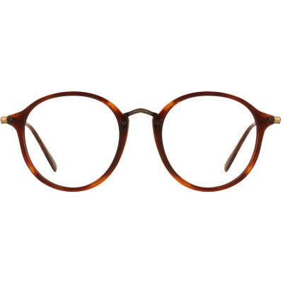 G4U 815038W Round Eyeglasses 126315-c