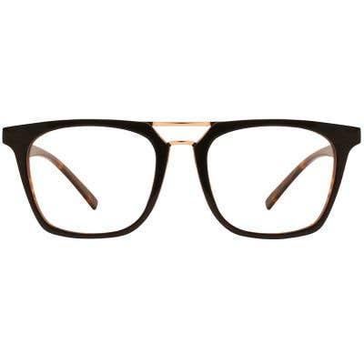 G4U LV-25026-1 Rectangle Wood Eyeglasses 126678-c