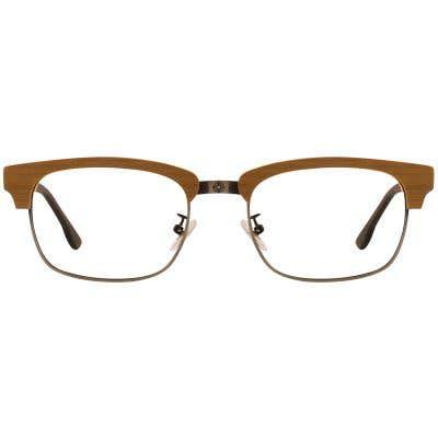 G4U 12878 Browline Wood Eyeglasses 127420-c