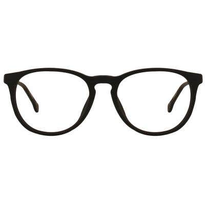 Wood Round Eyeglasses 128838-c