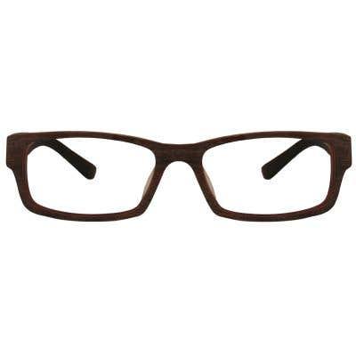 Wood Rectangle Eyeglasses 128842-c
