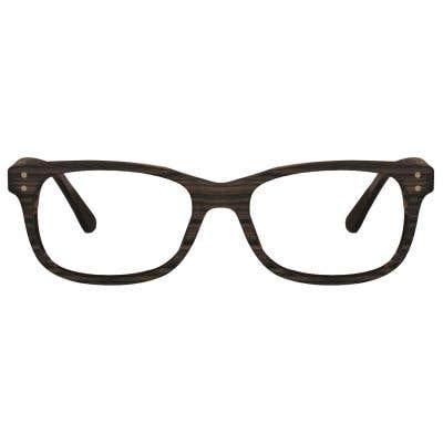 Wood Rectangle Eyeglasses 128857-c