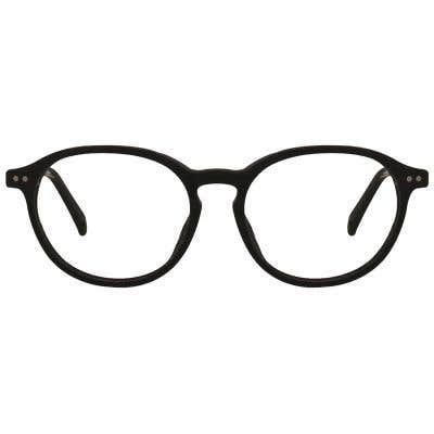 Wood Round Eyeglasses 128870-c