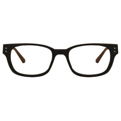 Wood Rectangle Eyeglasses 128880-c