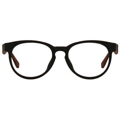 Wood Round Eyeglasses 128896-c