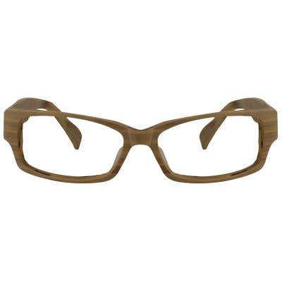 Wood Rectangle Eyeglasses 129050