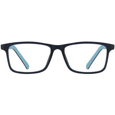 Kids Rectangle Eyeglasses 140227-c