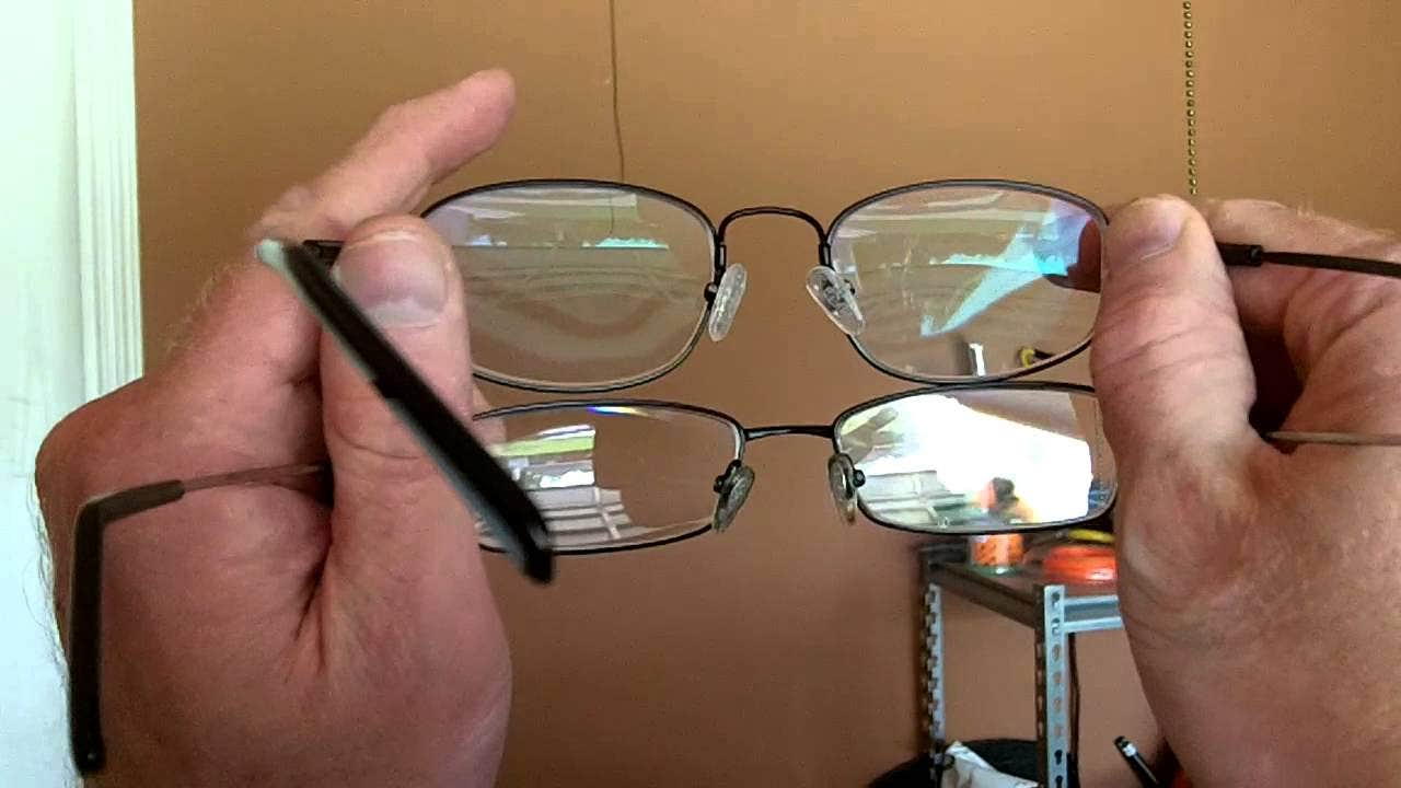 Controlling reflections in glasses