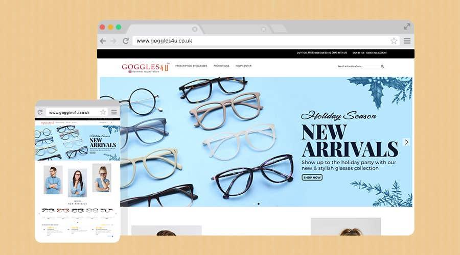 Bask In Clear-Cut User Interface at Goggles4U UK